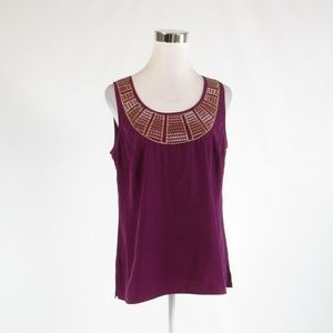Purple ANN TAYLOR LOFT tank top blouse M